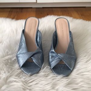 Loeffler Randall Laurel Sandal Blue leather
